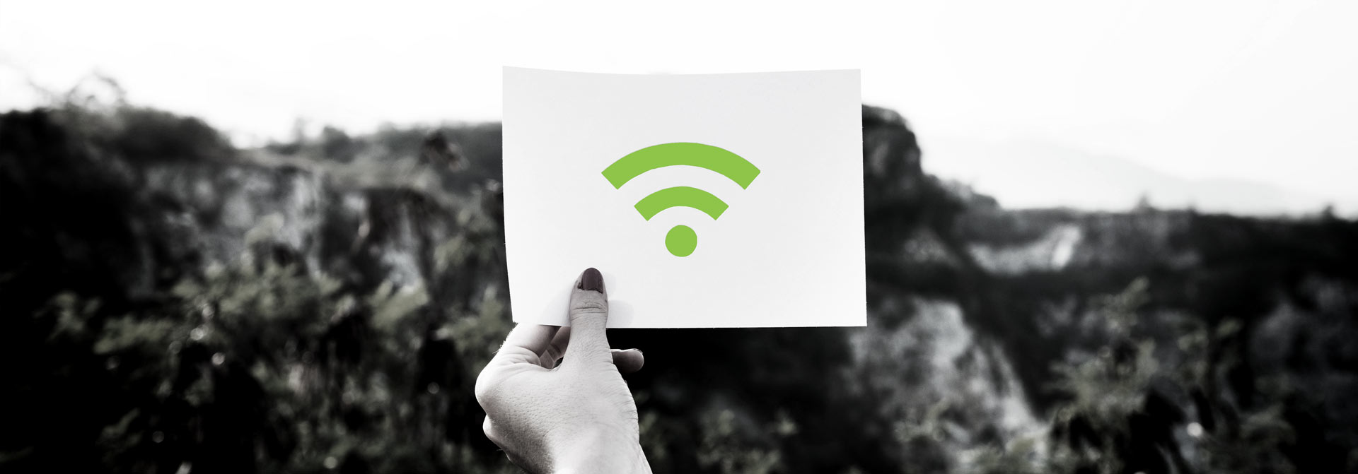 Card with Wifi Signal Logo